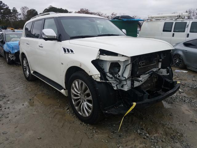 Salvage cars for sale from Copart Byron, GA: 2017 Infiniti QX80 Base
