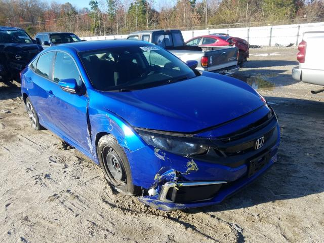 Salvage cars for sale from Copart Hampton, VA: 2019 Honda Civic LX