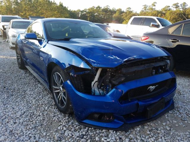 Salvage cars for sale from Copart Houston, TX: 2017 Ford Mustang GT