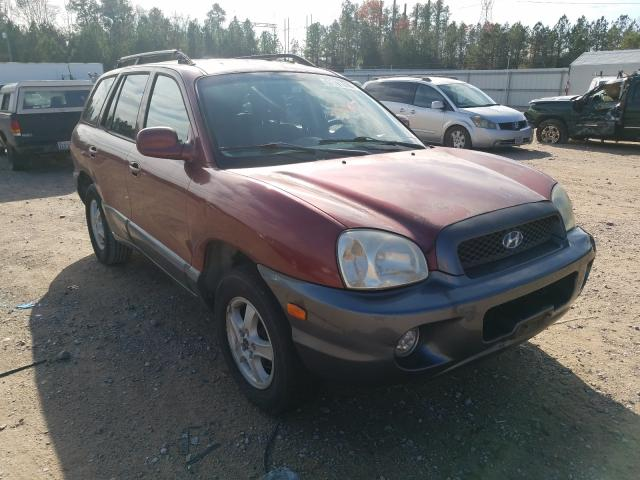 Salvage cars for sale from Copart Charles City, VA: 2003 Hyundai Santa FE G