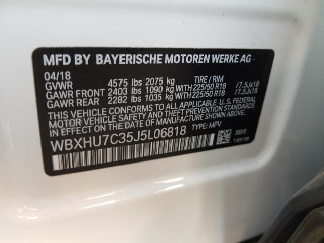WBXHU7C35J5L06818 2018 Bmw X1 Sdrive2 2.0L