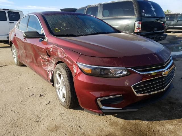 Salvage cars for sale from Copart Riverview, FL: 2016 Chevrolet Malibu LS