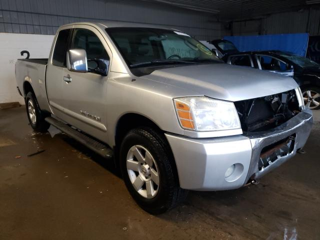 Salvage trucks for sale at Candia, NH auction: 2005 Nissan Titan XE