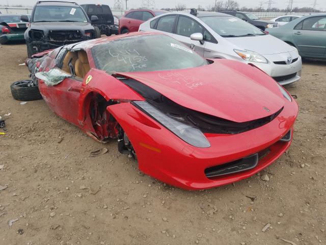 Ferrari salvage cars for sale: 2012 Ferrari 458 Spider