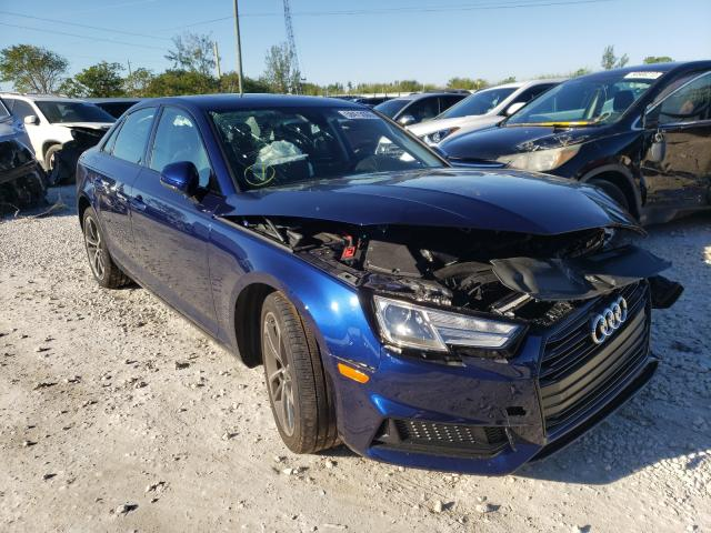 Salvage cars for sale from Copart Homestead, FL: 2019 Audi A4 Premium