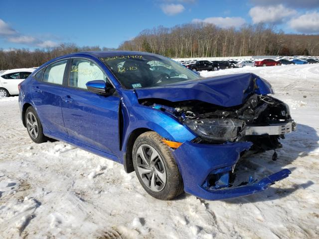 Salvage cars for sale from Copart West Warren, MA: 2019 Honda Civic LX