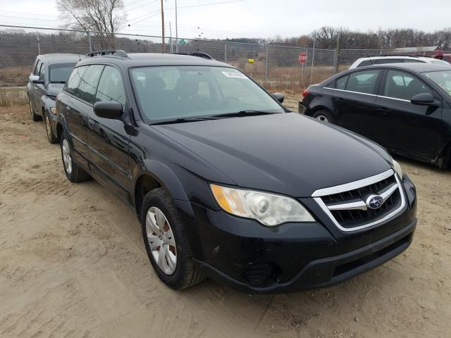Salvage cars for sale from Copart Madison, WI: 2009 Subaru Outback