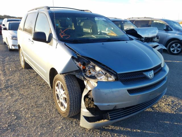 Salvage cars for sale from Copart Anderson, CA: 2005 Toyota Sienna LE