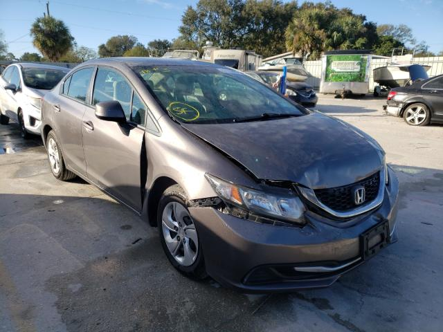 Salvage cars for sale from Copart Punta Gorda, FL: 2013 Honda Civic LX