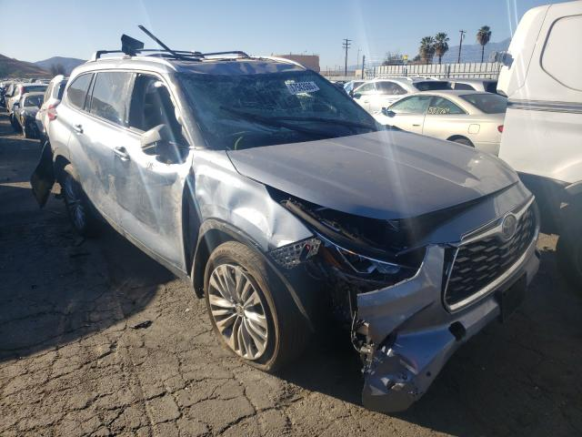 Salvage cars for sale from Copart Colton, CA: 2020 Toyota Highlander