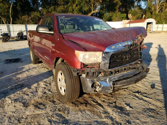 Salvage cars for sale from Copart Ocala, FL: 2007 Toyota Tundra DOU