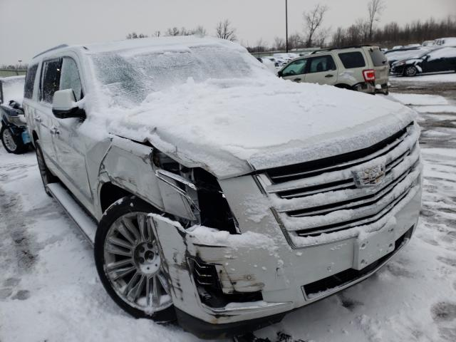 Salvage cars for sale from Copart Woodhaven, MI: 2016 Cadillac Escalade E