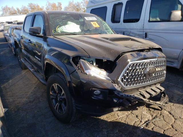 Salvage cars for sale from Copart Colton, CA: 2019 Toyota Tacoma DOU