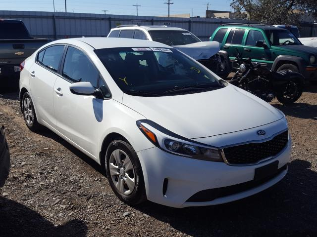Salvage cars for sale from Copart Mercedes, TX: 2017 KIA Forte LX