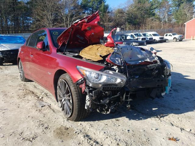 Salvage cars for sale from Copart Mendon, MA: 2016 Infiniti Q50 RED SP
