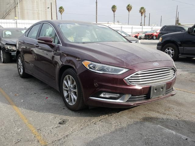 Salvage cars for sale from Copart Wilmington, CA: 2017 Ford Fusion SE