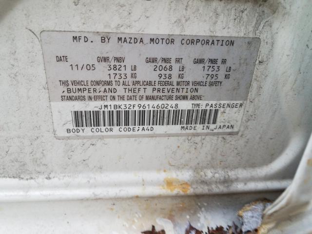2010 MAZDA MAZDA3 JM1BK32F961460248