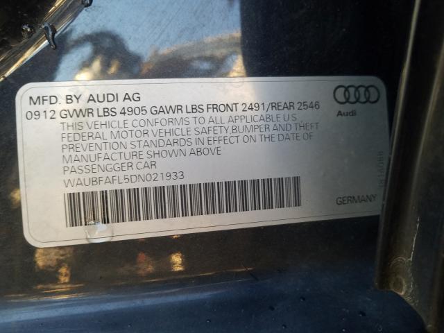 WAUBFAFL5DN021933 2013 Audi A4 Premium 2.0L
