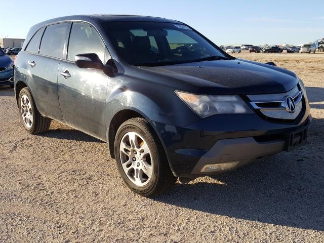 Salvage cars for sale from Copart San Antonio, TX: 2009 Acura MDX