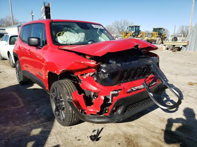 Salvage cars for sale from Copart Wichita, KS: 2020 Jeep Renegade S