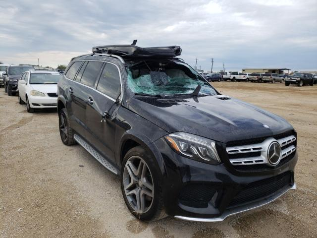 Mercedes-Benz GLS 550 4M salvage cars for sale: 2017 Mercedes-Benz GLS 550 4M