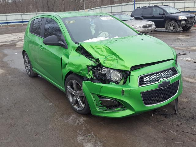 Salvage cars for sale from Copart Ellwood City, PA: 2015 Chevrolet Sonic RS