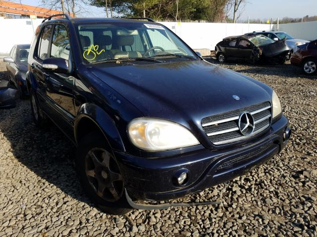 Salvage cars for sale from Copart New Britain, CT: 2002 Mercedes-Benz ML500