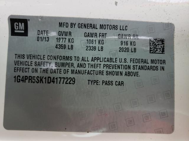 1G4PR5SK1D4177229 2013 Buick Verano Con 2.4L