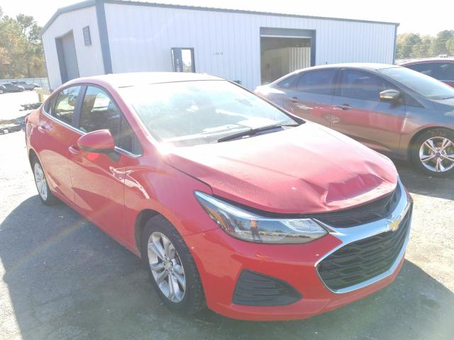 Salvage cars for sale from Copart Shreveport, LA: 2019 Chevrolet Cruze LT