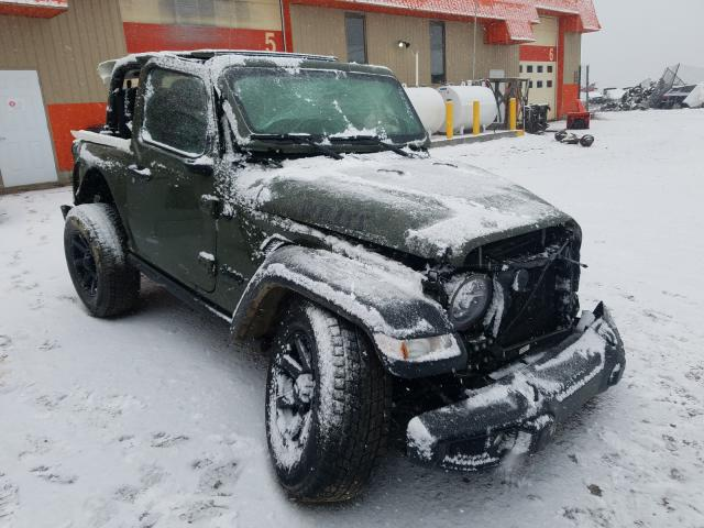 Salvage cars for sale from Copart Montreal Est, QC: 2021 Jeep Wrangler S