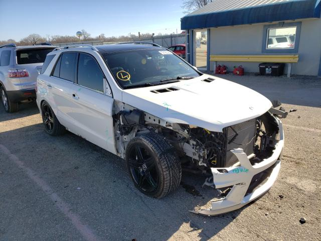 Salvage cars for sale from Copart Wichita, KS: 2015 Mercedes-Benz ML 63 AMG