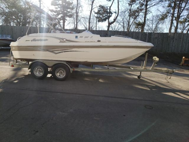 Salvage boats for sale at Ham Lake, MN auction: 2004 Hurricane Boat With Trailer