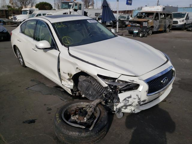 Salvage cars for sale from Copart Wilmington, CA: 2017 Infiniti Q50 Premium