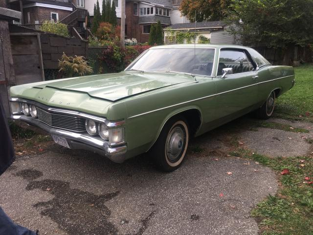 Salvage cars for sale from Copart Courtice, ON: 1969 Mercury Meteor