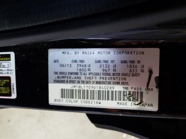JM1BL1TG9D1840289 2013 Mazda 3 I 2.0L
