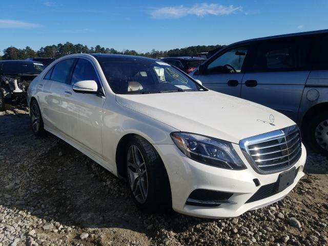 Mercedes-Benz S550 salvage cars for sale: 2016 Mercedes-Benz S550