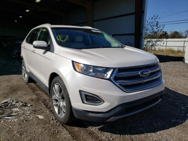 Ford Edge Titanium salvage cars for sale: 2017 Ford Edge Titanium