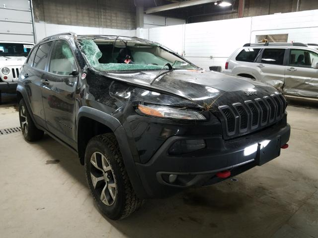 Salvage cars for sale from Copart Blaine, MN: 2017 Jeep Cherokee T
