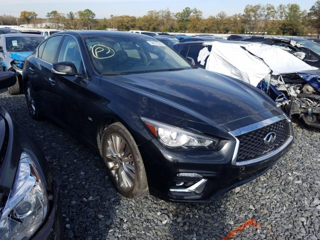 Infiniti Q50 Luxe salvage cars for sale: 2019 Infiniti Q50 Luxe