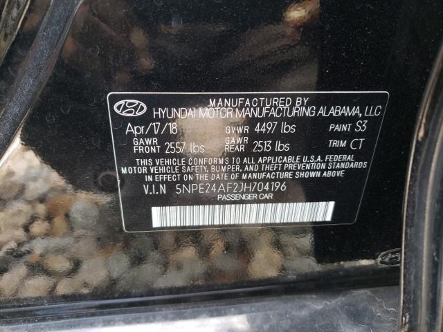 5NPE24AF2JH704196 2018 Hyundai Sonata Se 2.4L
