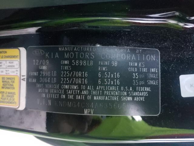 KNDMG4C34A6356055 2010 Kia Sedona Lx 3.8L