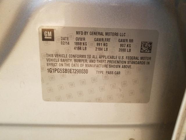 2014 CHEVROLET CRUZE LTZ 1G1PG5SB9E7298030