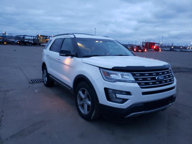 Salvage cars for sale from Copart Woodhaven, MI: 2016 Ford Explorer X
