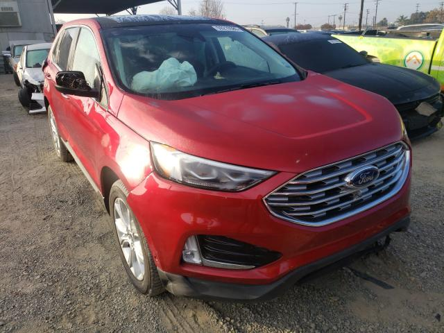 Ford Edge Titanium salvage cars for sale: 2020 Ford Edge Titanium