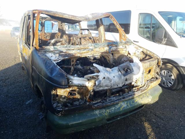 Salvage cars for sale from Copart Anderson, CA: 2001 Ford Econoline