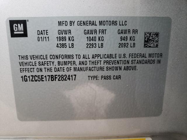 2011 CHEVROLET MALIBU 1LT 1G1ZC5E17BF282417