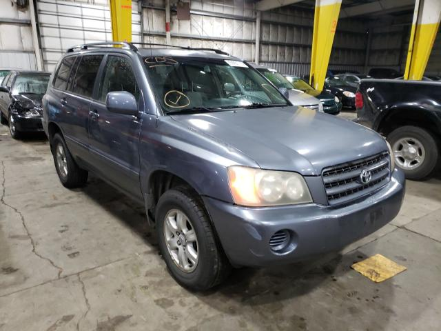 Toyota salvage cars for sale: 2003 Toyota Highlander