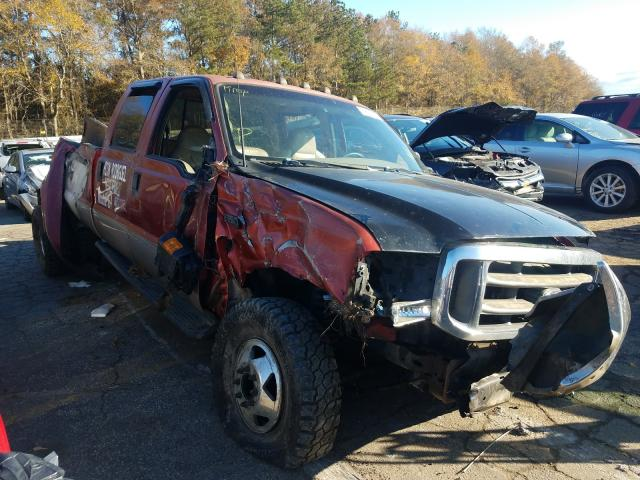 Salvage cars for sale from Copart Austell, GA: 1999 Ford F350 Super