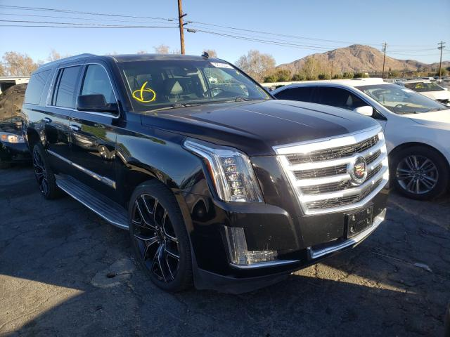 Salvage cars for sale from Copart Colton, CA: 2015 Cadillac Escalade E