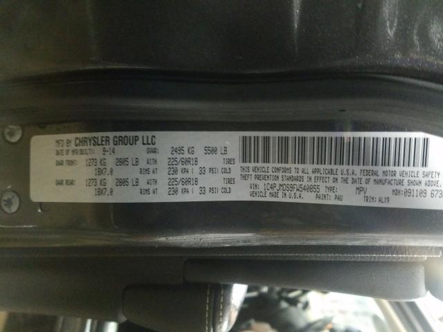 1C4PJMDS9FW540855 2015 Jeep Cherokee L 3.2L